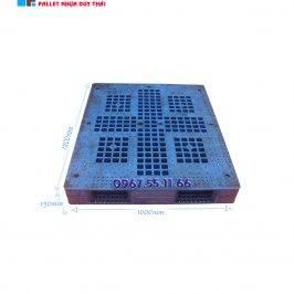 pallet xanh 1200x1100x150 2 266x266 1 - Pallet nhựa cũ 1100 x 1200 x 150 mm