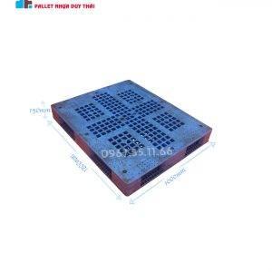 pallet xanh 1200x1100x150 300x300 1 - Pallet nhựa cũ 1200 x 1100 x 120 mm