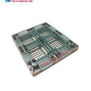 pallet xanh reu 1200x1100x120 3 260x300 1 300x300 - Pallet nhựa cũ 900 x 1100 x 150 mm