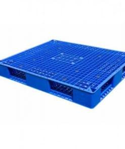 pallet nhua 2 mat 247x296 - Pallet nhựa mặt đá 1100x1100x150 mm