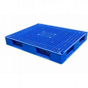 pallet nhua 2 mat 300x300 - Pallet nhựa mặt đá 1100x1100x150 mm