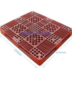 pallet do 1200x1100x150 247x296 - Pallet nhựa đỏ 1100x1100x150 mm