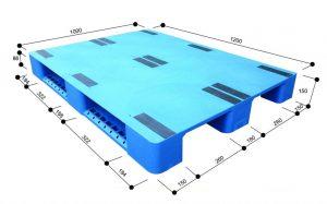 pallet nhua 1 mat khong hoa van 300x187 - Tổng hợp các mẫu pallet nhựa 1200 x 1200 giá rẻ