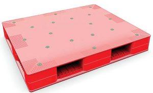 pallet nhua mat kin 300x182 - 5 mẫu pallet nhựa mặt phẳng được sử dụng nhiều nhất hiện nay
