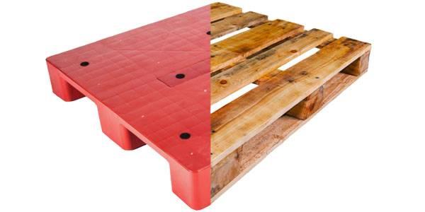 pallet go va pallet nhua - So sánh pallet nhựa và pallet gỗ - loại nào tốt hơn ?