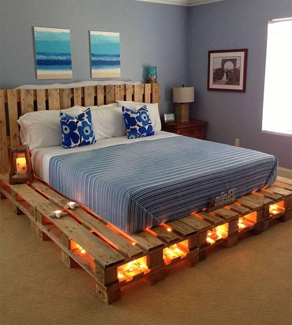 cach dong giuong bang go pallet 8 - 10 mẫu pallet gỗ làm giường đẹp mà chắc chắn nhất 2019