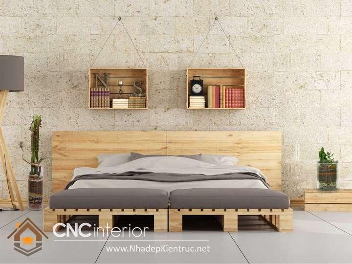 giuong ngu go pallet 4 - 10 mẫu pallet gỗ làm giường đẹp mà chắc chắn nhất 2019