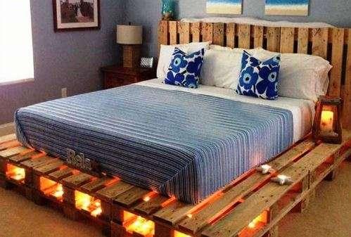 pallet ke giuong 1 - Pallet kê giường nên dùng pallet gỗ , nhựa hay sắt thì tốt ?