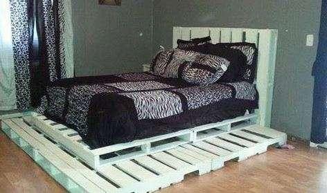 pallet ke giuong 2 - Pallet kê giường nên dùng pallet gỗ , nhựa hay sắt thì tốt ?