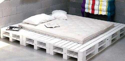 pallet ke giuong - Pallet kê giường nên dùng pallet gỗ , nhựa hay sắt thì tốt ?
