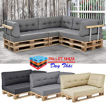 pallet sofa 1 - Top 10 mẫu pallet sofa đơn giản mà đẹp cho phòng khách