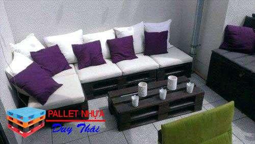 pallet sofa 10 - Top 10 mẫu pallet sofa đơn giản mà đẹp cho phòng khách