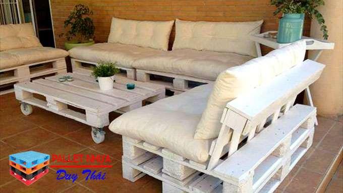 pallet sofa 4 - Top 10 mẫu pallet sofa đơn giản mà đẹp cho phòng khách