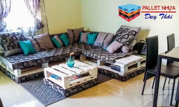 pallet sofa 9 - Top 10 mẫu pallet sofa đơn giản mà đẹp cho phòng khách