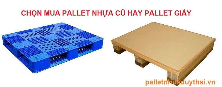 palletnhuagiare 8973 - Nên chọn mua pallet nhựa cũ hay pallet giấy tốt hơn ?