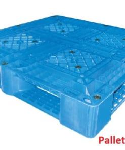 Pallet nhựa liền khối 1100x1100x145mm